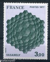 TABLEAU, ART, FRANCE 1977, timbre 1924, VASARELY, HOMMAGE à L' EXAGONE, neuf**