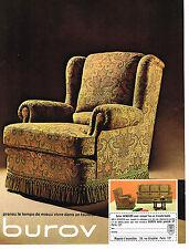 PUBLICITE ADVERTISING 094  1968  BUROV   salon WINDSOR   sièges fauteuils
