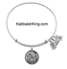 Expandable Bangle Bracelet Made In Usa Wind & Fire York Beach Charm Silver