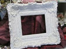 LARGE WHITE ORNATE WALL FRAME~SHABBY PATINA~RESIN~8x10~Cottage~Chic~French
