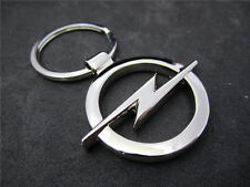 1 Pcs New keyrings Opel car logo key chain silver color 3D promotional trinket