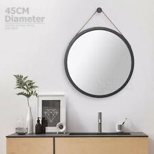 45cm Make Up Wall Hang Mirror Belt Vanity Bathroom Bedroom Round  Black Frame