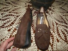 VANELI Brown Suede Leather Driving Moc Loafer Flats 8M/8N Front Tassels