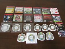 LARGE LOT OF SONY PSP PROMOS, DEMOS AND PRE-PROD GAMES AND DISCS