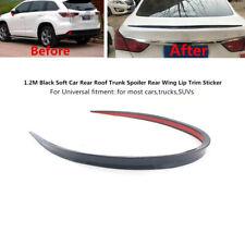 1.2M Black PU Car Rear Roof Trunk Spoiler Hatch Gate Rear Wing Lip Trim Sticker