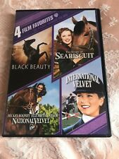 4 FILM FAVORITES CLASSIC HORSE FILMS - Incl NATIONAL VELVET, BLACK BEAUTY DVD
