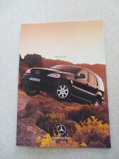 1999 Mercedes ML 430 brochure