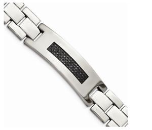 0.5CT Cubic Zirconia Men's Elegant Bracelet In 935 Argentium Silver