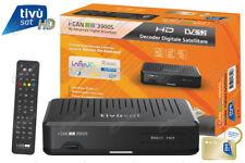DECODER DIGITALE SATELLITARE IN HD I-CAN 3900S CON TESSERA TIVUSAT HD INCLUSA