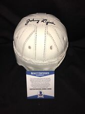 Johnny Lujack Signed Leather Notre Dame Mini Helmet Fightin Irish Beckett #2