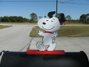 "NEW Snoopy ""HAPPY DANCE"" Mailbox Topper Handmade"