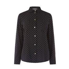 New Ex Oasis Black Geo Heart Print Long Sleeve Blouse Shirt 10 - 22