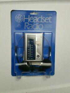 BRAND New/Old Stock Sealed - GE 7-1625S AM FM Stereo Headset Radio w/ Headphones