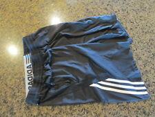 Adidas Shorts Gym Activewear Large L 14-16 Black Basketball climalite tie draw