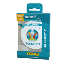 2020 PANINI EURO CUP SOCCER PREVIEW 10 PACKS + COLLECTORS TIN 50 STICKERS TOTAL