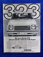 Mazda 323 - Werbeanzeige Reklame Advertisement 1977 __ (113