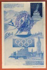 1948 -Carte Maximum-Autriche -Jeux Olympiques St Moritz & London-Yt.696-Réf.C.12
