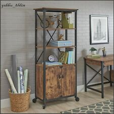 Industrial Library Bookcase Display Cabinet Rustic Country Cottage Weathered NEW