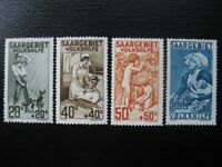 SAAR SAARLAND Mi. #122-125 scarce mint MNH stamp set! CV $192.50