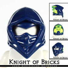 LEGO Minifigure DARK BLUE Headgear Helmet Ninjago Wrap w Narrow Eye Hole