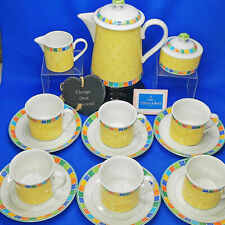 Villeroy & Boch TWIST-ALEA Limone * TEA / COFFEE SET FOR 6 * Pot Cups Milk Sugar