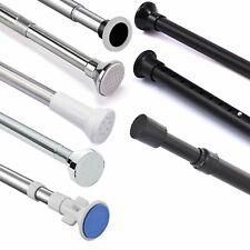 70-210cm Adjustable Straight Shower Curtain Rod Bath Tub Pole Stainless Steel AU