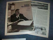1963 Race Car Driver Robert Morris Grossman Vintage Profile Article Ferrari