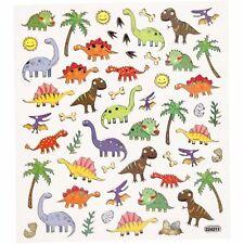 Dinosaurs Stickers: Sheet Boys Party Bag Filler Foil Finish Craft Childrens