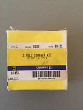 NEW IN BOX SQUARE D 3 POLE CONTACT KIT 9998 BA21 TYPE B