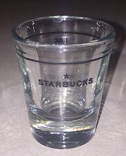 = Starbucks Original 2006 Clear Black Star Logo Shot Glass Anchor Hocking 1 oz.