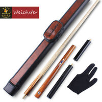 Weichster 3/4 Handmade Snooker Pool Cue Black Walnut Wood with Case Ext.Glove