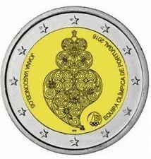 Portogallo 2016  2 € commemorativo   FDC Rio in oblò e posta prioritaria