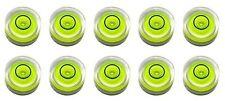 TEN Stick-on 14mm X 8mm Disc Bubble Spirit Level Round Circular Circle Yellow s