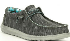 Hey Dude Mens Shoes Wally Sox Charcoal Size 12