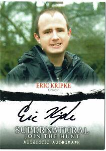 Supernatural Join the Hunt Seasons 1 - 3 Autograph Card A20 Eric Kripke Creator