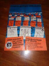 POSTER,MANIFESTO,1978,PCI,COMUNISMO,POLITICA 8 MARZO,FESTA DONNA,ABORTO,VIOLENZA