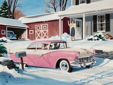 1956 Ford Fairlaine Illustration 14 x 11 Photo Print