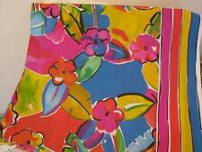 VINTAGE FABRIC MARY QUANT 1980'S  BRIGHT COLOURS SARONG FABRIC TABLECLOTH