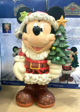 More details for disney traditions 17 inch mickey mouse old st. mick christmas greeter jim shore