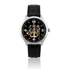 L305 - NEW Analog Quartz Leather Wrist Watch / Religion - Allah Muslim