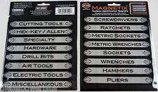 16 tool box magnets snap on matco craftsman label harley davidson bike HD drawer