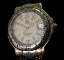 TAG Heuer 6000 Men's Stainless/18K Gold Watch WH1151-K1 w/New Alligator Band