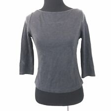 42aeb1ea4982a FRENCH CONNECTION GRAY 3/4 SLEEVE SHIRT SIZE MEDIUM PETITE