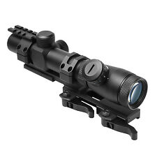 NcSTAR SPR Mount w/  Shooter 1.1-4X25 MIL-DOT Tactical Rifle Scope Illuminated
