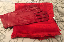Valentino Red Scarf and Dents Red Gloves