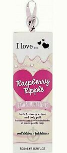 Raspberry Ripple Bath Shower cream Body Wash Puff Gift Set Boxed MOTHERS DAY NEW