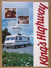 1978 King's Highway RV Motorhome photo vintage print Ad