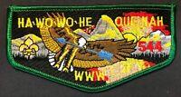 MERGED HA-WO-WO-HE-QUE-NAH OA LODGE 544 407 BSA TETON PEAKS COUNCIL EAGLE  FLAP