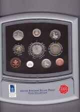 2000 De-Luxe PROOF SET DI 10 Monete in Scatola color ARGENTO