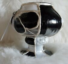 Glass Candle Holder ~ Hand Painted Decorative Glassware ~ Kelly Morgan (Artful)